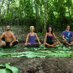 The Galu tribe doing yoga