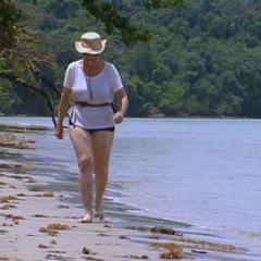 Sonja at the Tagi beach.