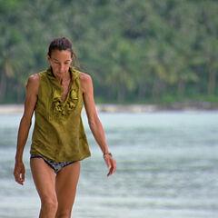 Debbie on the beach.