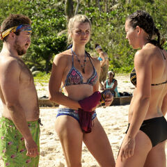Zeke and Sarah talking with Andrea.