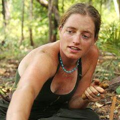 Christy at the Jaburu camp.