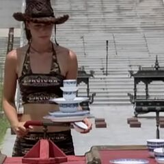 Amanda competing in the Final Immunity Challenge.