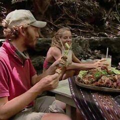 Rafe & Cindy enjoying the reward that Cindy won.