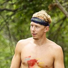 Tyler as a member of the merged tribe, <a href=