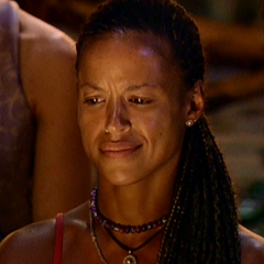 Alicia at her last Tribal Council.