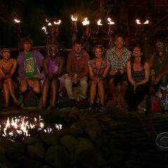 Bikal attending their first Tribal Council.