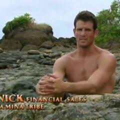 Nick making a confessional as a member of La Mina.