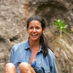 Jessica at the barren Ravu camp.