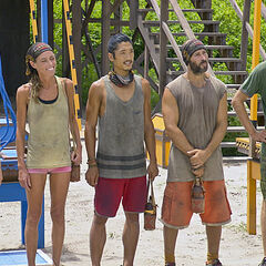 The final 5 at the start of the Immunity Challenge.