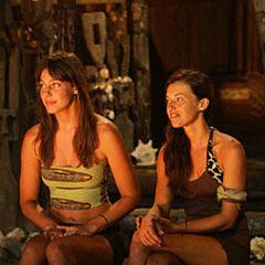 Amanda and Parvati at the Final Tribal Council.