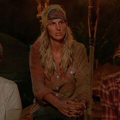 Sierra at her last Tribal Council.