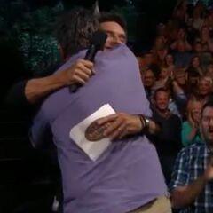 Jeff hugging <a href=