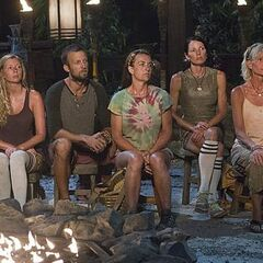 Laura B. at her last Tribal Council.