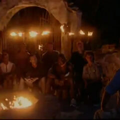 Morgan at Tribal Council for their first time about to engage in a discussion about the vote out.