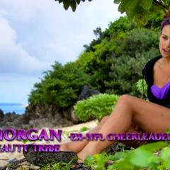 Morgan in a confessional.
