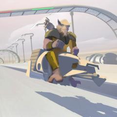Ezra on a speeder