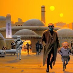 An early concept of Tatooine.
