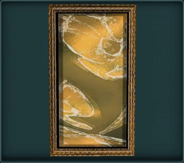 Painting of Golden Petals 1