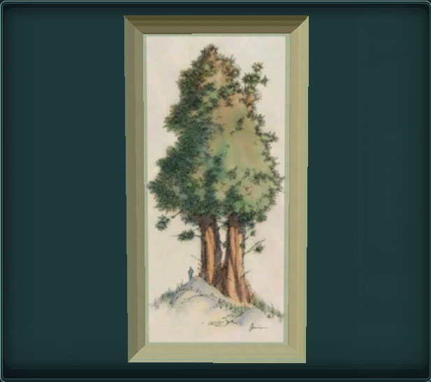 Painting of a Blumbush