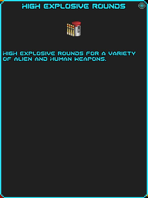 Sots high explosive rounds