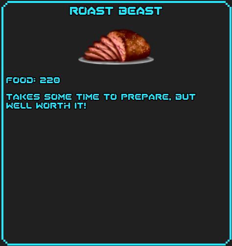 Roast beast info