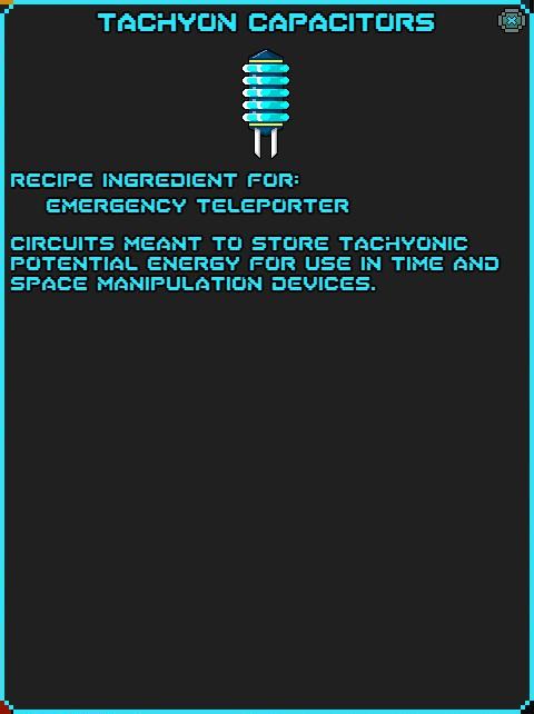 IGI Tachyon Capacitors