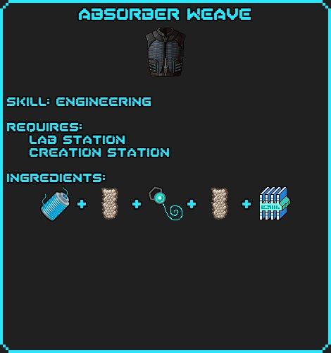 Absorber Weave recipe