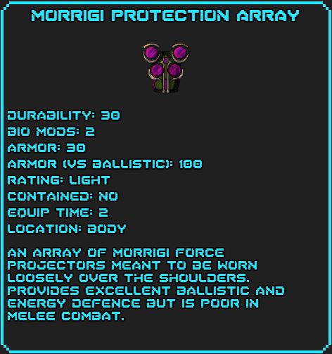 Morragi Protection Array Data
