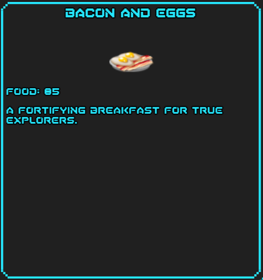 Bacon and Eggs SotsDex