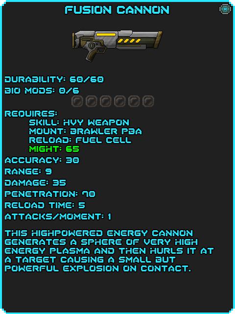 Fusion Cannon Info