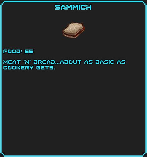 Sammich info