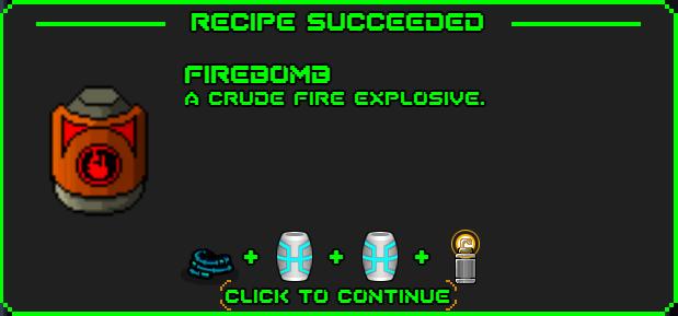 Firebome-recipe