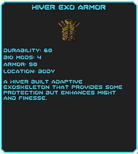 Hiver EXO armor tag