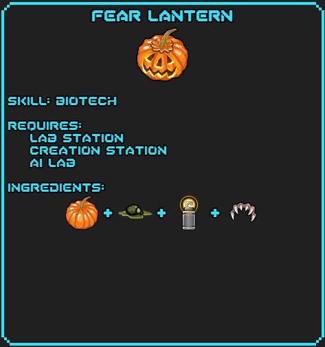 Fear Lantern Recipe