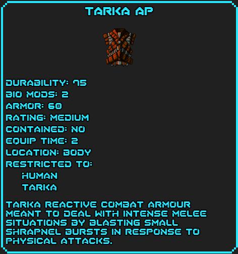 Tarka AP Data
