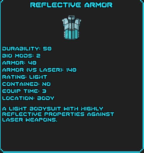 Reflective armor