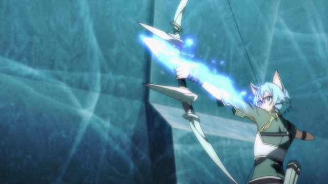 File:Sinon firing a Sword Skill arrow.png