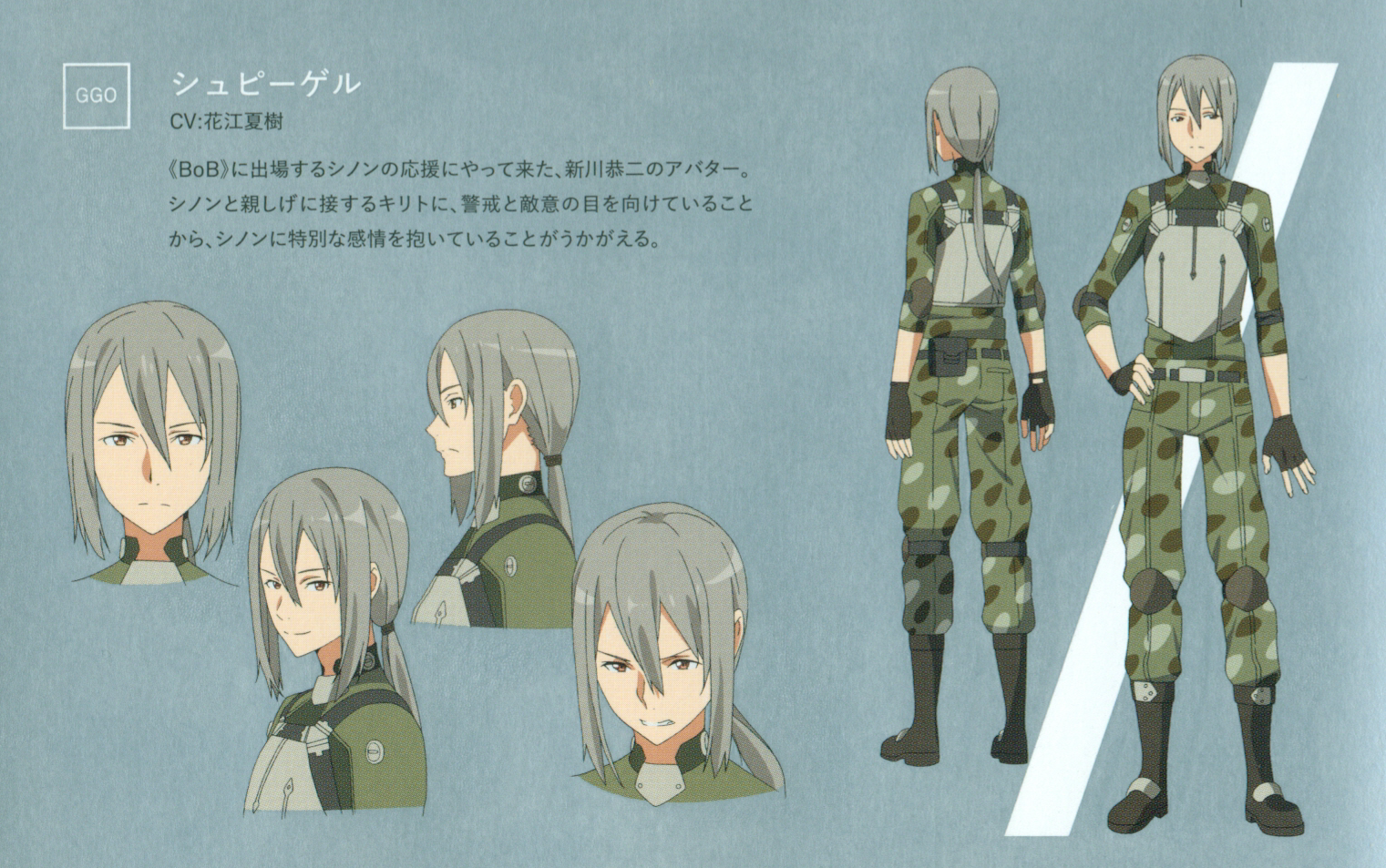 Image - Spiegel character design (booklet).png | Sword Art Online ...