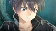 Kirito noticing Philia's orange cursor