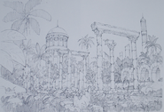 Design Works II artbook locations Ancient Temple