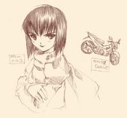 Web Kirito and motorcycle