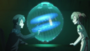 Kirito displaying his mirage sphere