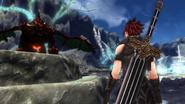 Genesis preparing to face a dragon