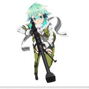Sinon's GGO character design (2) for Code Register