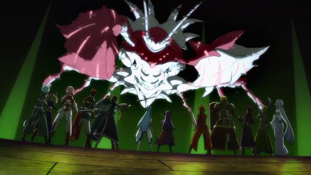 File:Sleeping Knights and Kirito's group defeating 28th floor boss.png