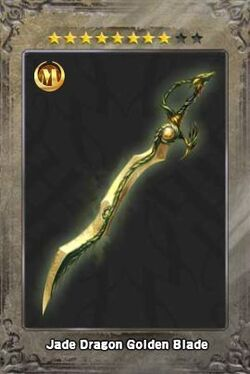 Jade Dragon Golden Blade