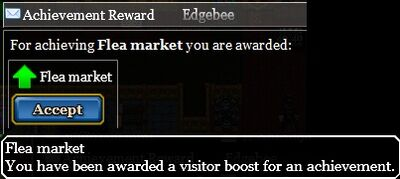 Flea market achievement reward