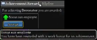 Decorator achievement reward