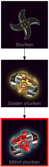 ResearchTree Mithril shuriken