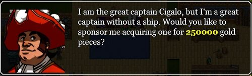 A great captain without a ship quest invitation